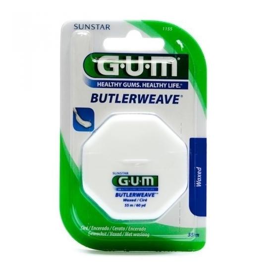 GUM Butlerweave 1155 fil dentaire ciré 55m