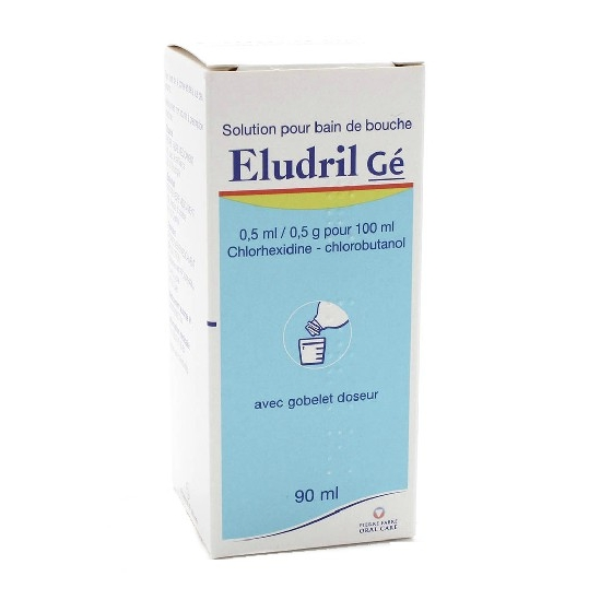 Eludril 0,5ml / 0,5g pour 100ml Solution pour Bain De Bouche 90ml