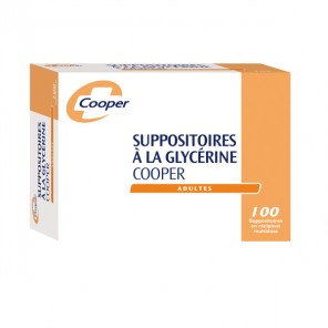 Cooper suppositoire glècérine adulte boite de 50