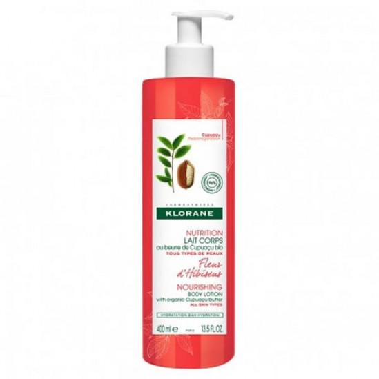 Klorane nutrition lait corps fleur d'hibiscus 400ml