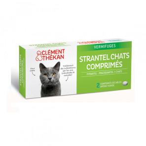 Clément thékan strantel vermifuges chat 2 comprimés