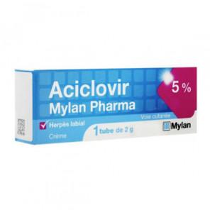 Mylan aciclovir pharma crème 5% 2g
